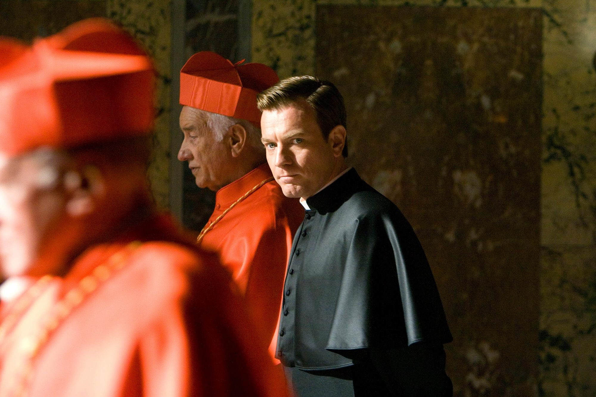 Father Patrick McKenna (Ewan McGregor) in Angels and Demons