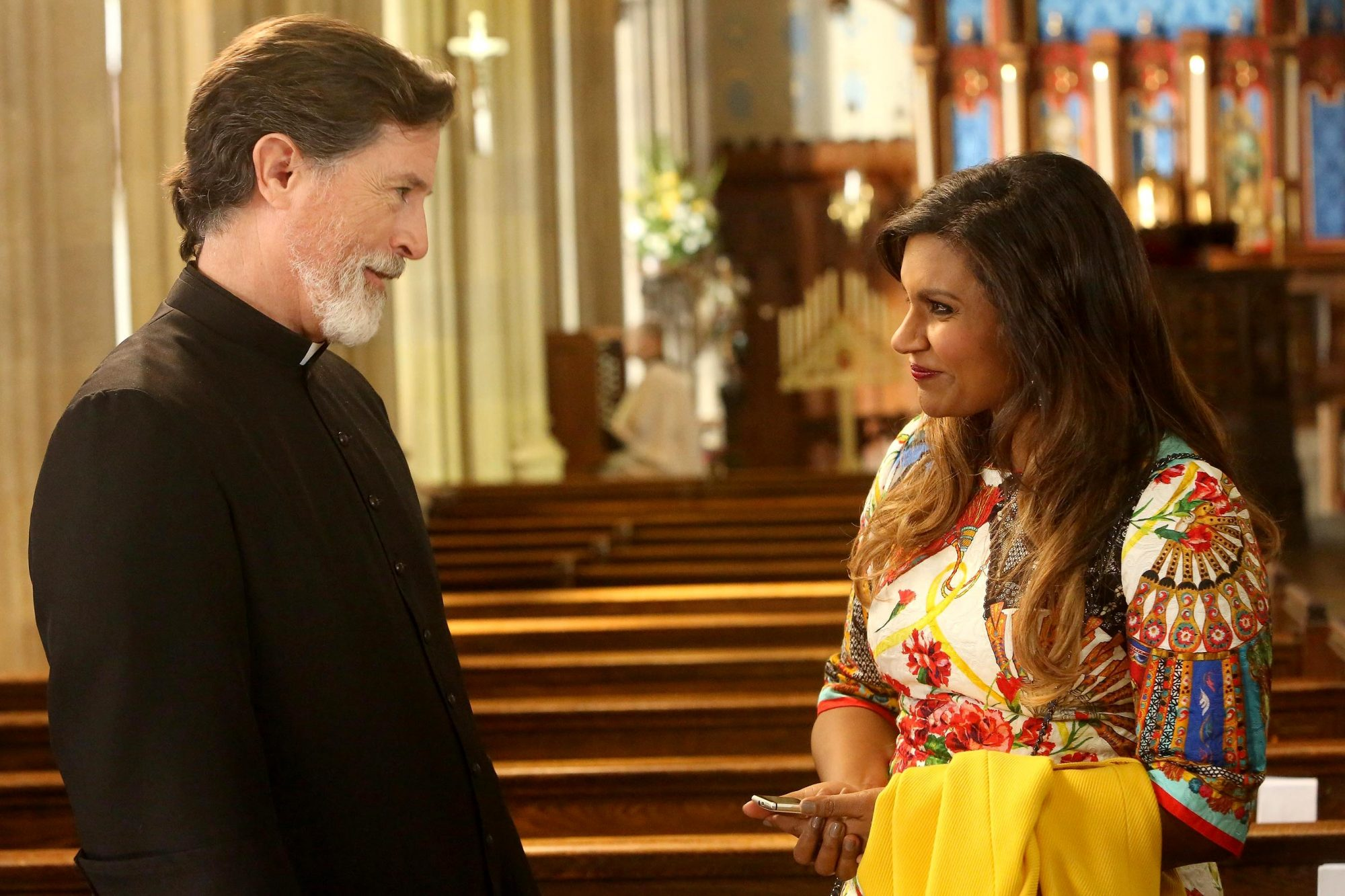 Father Michael (Stephen Colbert) on The Mindy Project