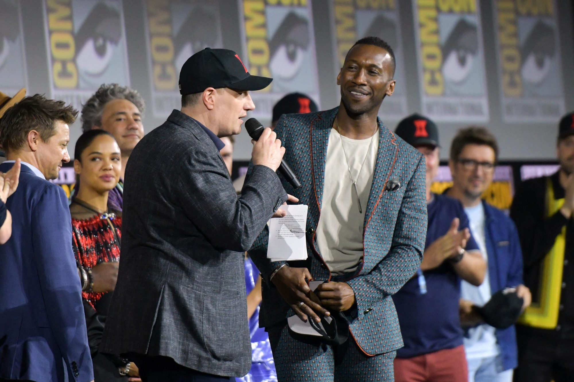 Kevin Feige and Mahershala Ali