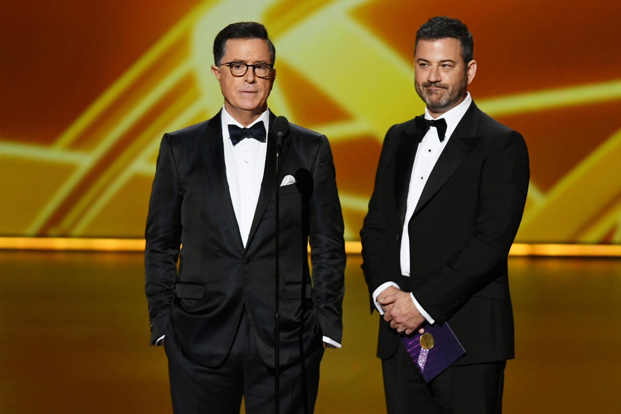 Stephen Colbert and Jimmy Kimmel