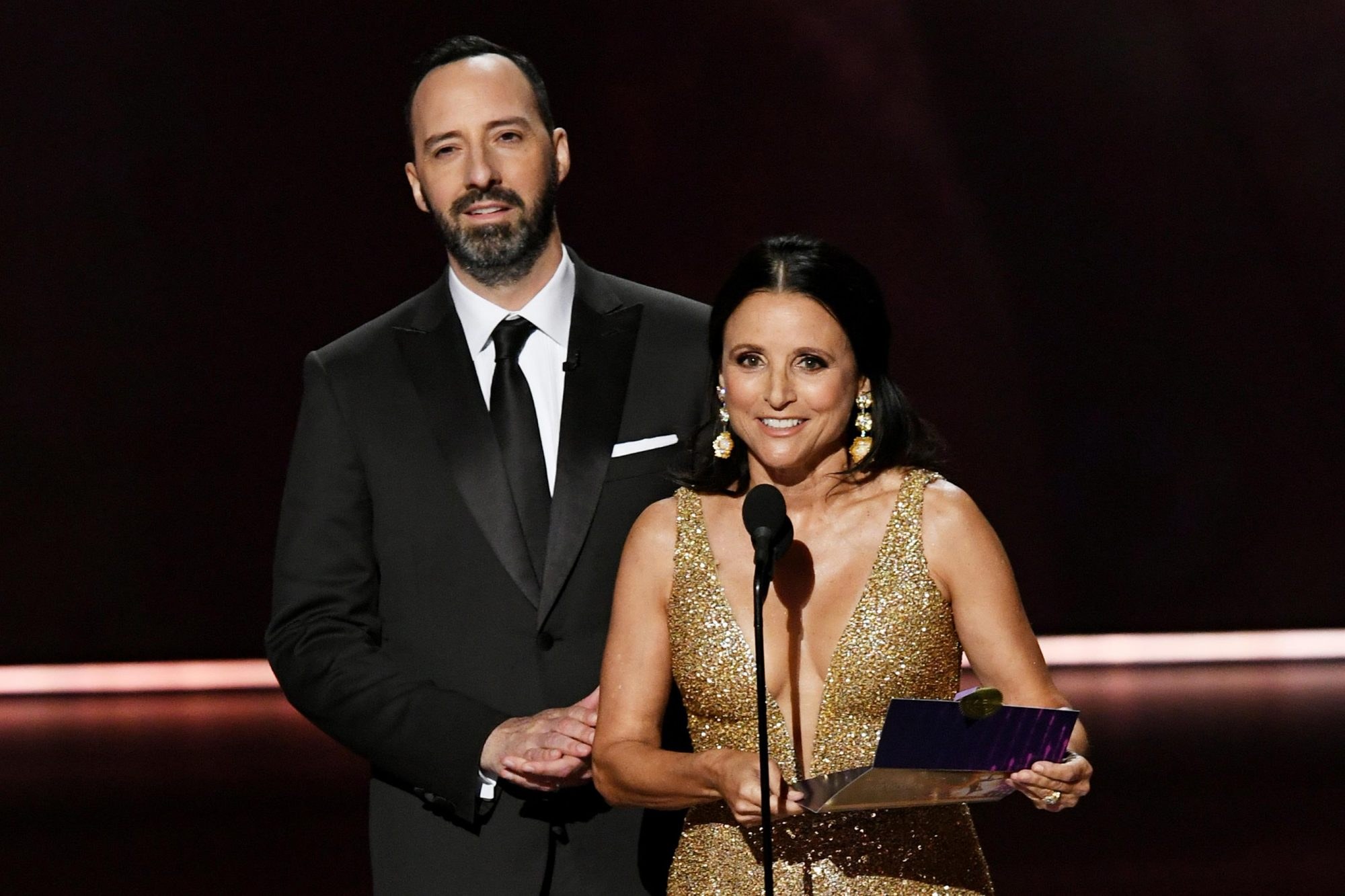 Tony Hale and Julia Louis-Dreyfus