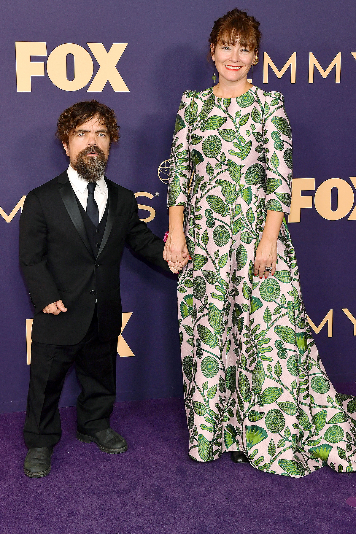Peter Dinklage (L) and Erica Schmidt