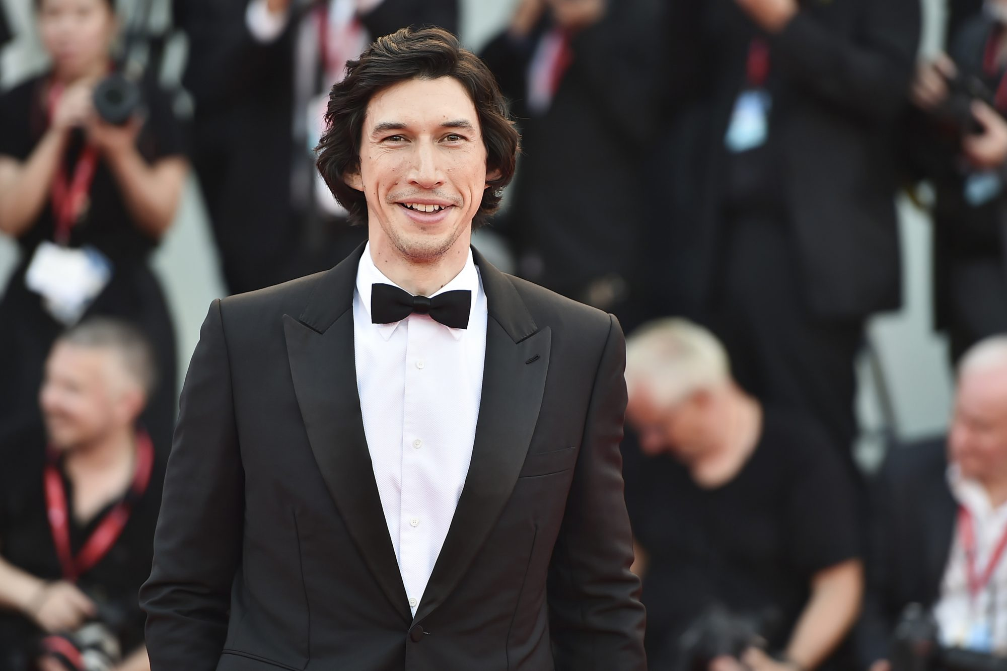 """VENICE, ITALY - AUGUST 29: Adam Driver walks the red carpet ahead of the """"Marriage Story"""" screening during during the 76th Venice Film Festival at Sala Grande on August 29, 2019 in Venice, Italy. (Photo by Theo Wargo/Getty Images)"""