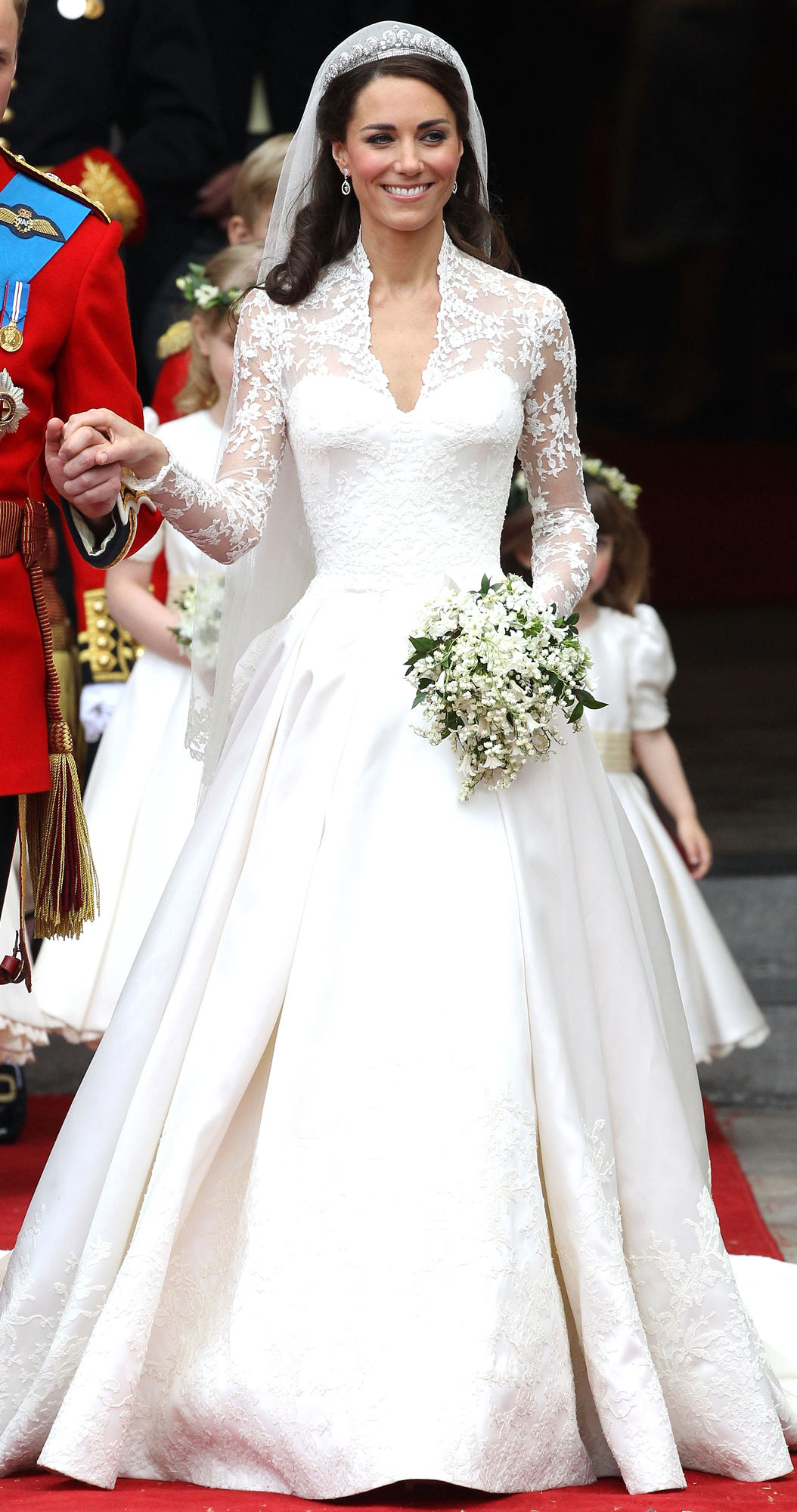 Catherine, Duchess of Cambridge, at her wedding, 2011