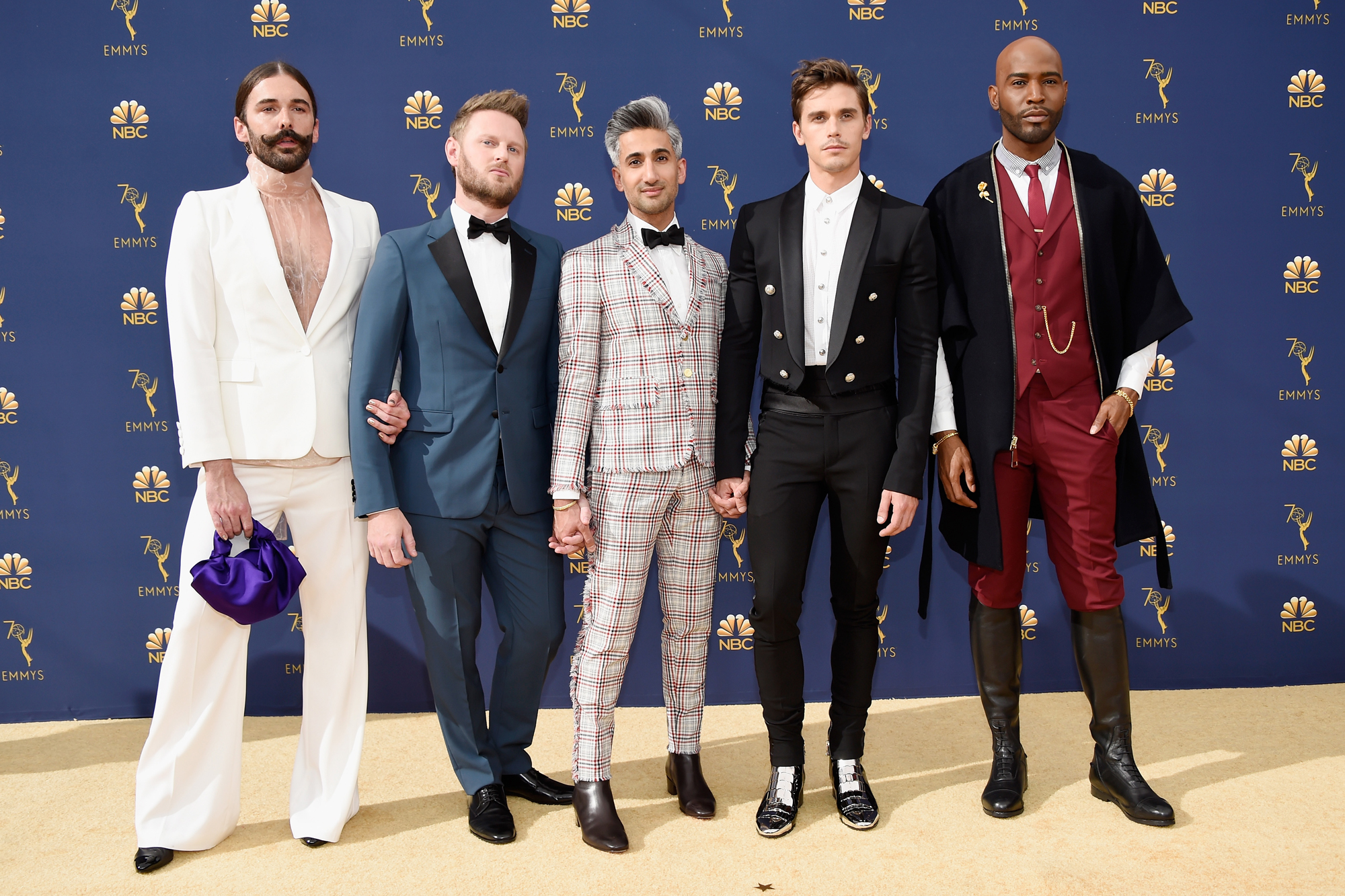 Queer Eye's Fab Five at the Emmys, 2018