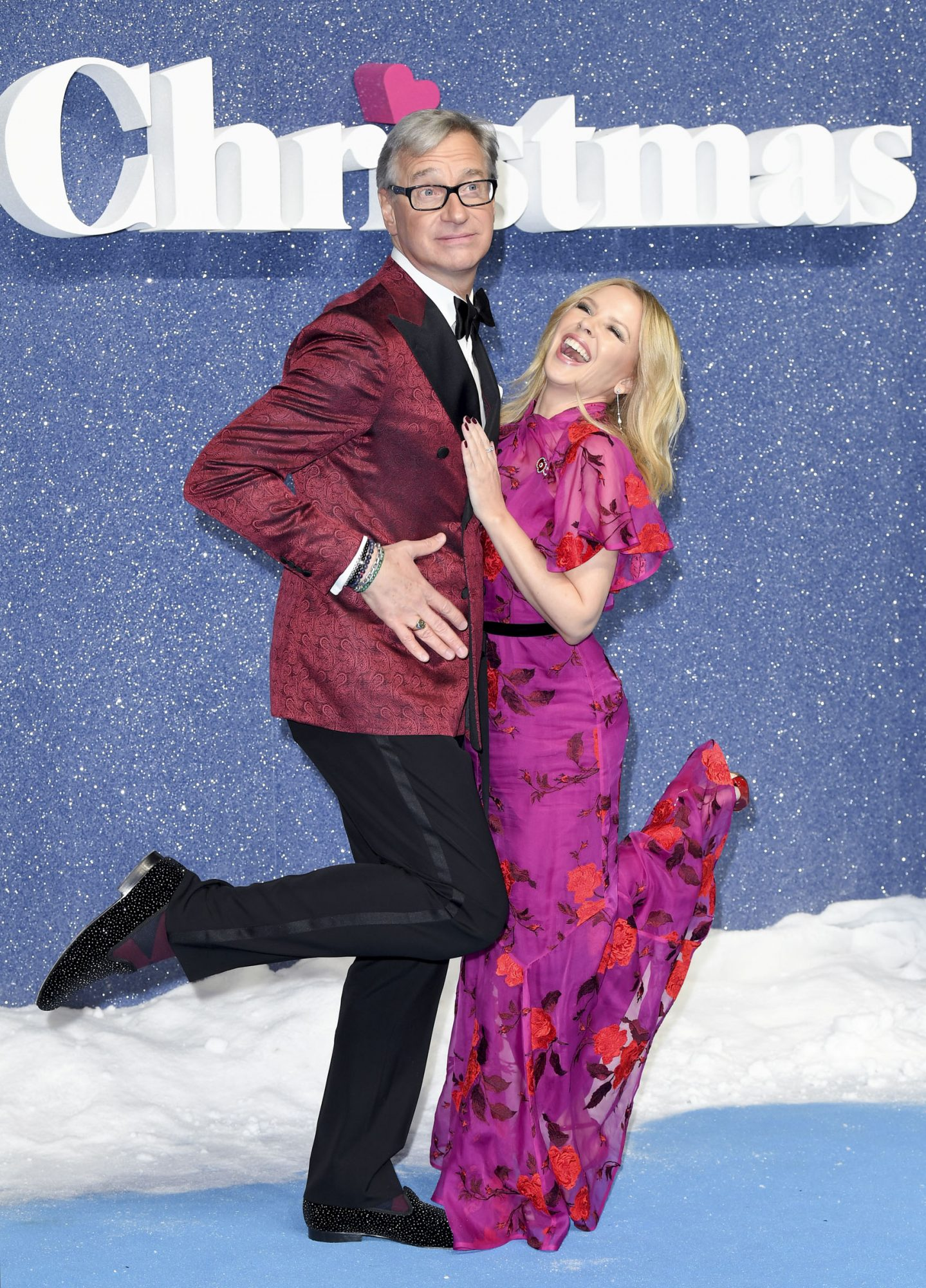 Paul Feig and Kylie Minogue