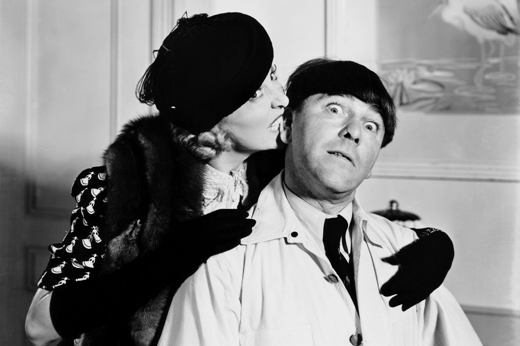 TASSELS IN THE AIR, from left, Gertrude Astor, Moe Howard, 1938