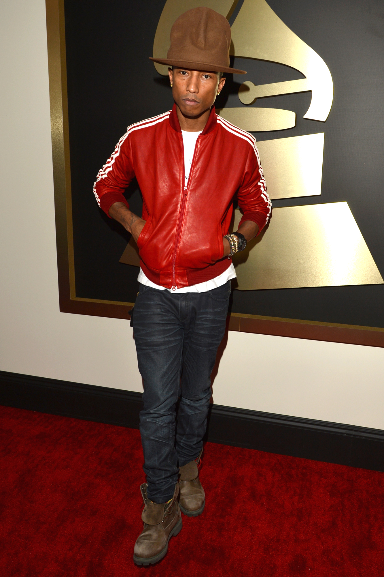 Pharrell at the Grammys, 2014