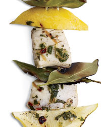 Swordfish, Lemon and Bay Leaves