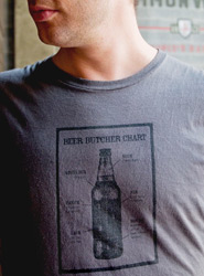 Beer Butcher Chart Tee