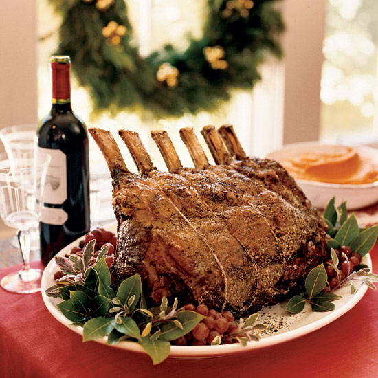 Salt-and-Pepper-Crusted Prime Rib with Sage Jus