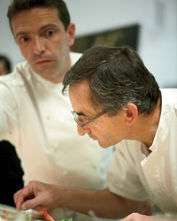 Michel Bras and his son, Sébastien