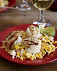 Summer Produce Guide: Grilled Scallops with Mexican Corn Salad