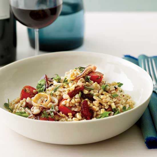 Farro Salad with Squid and Chorizo