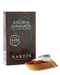 Nardin's tender smoked anchovies.