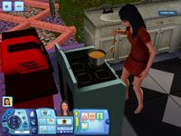 My Sim self making mac and cheese.