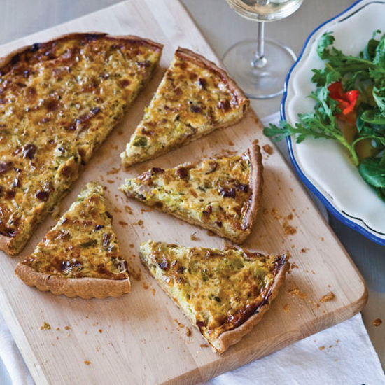 French Picnic Recipes like Bacon and Leek Quiche