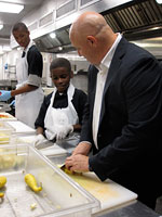 Knife Skills 101 with one of DC Central Kitchen's youngest volunteers