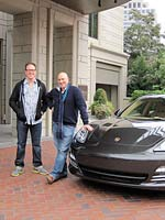 With Chef Damon Wise outside the Mansion on Peachtree in Atlanta