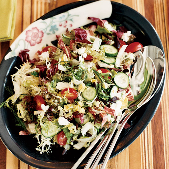 Chopped Greek Salad with Shallot Vinaigrette