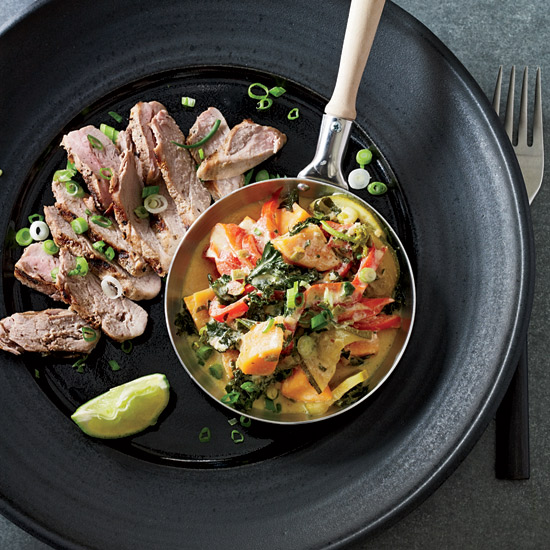 Grilled Pork Tenderloins with Vegetable Curry