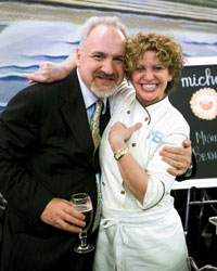 Chefs Art Smith and Michelle Bernstein.