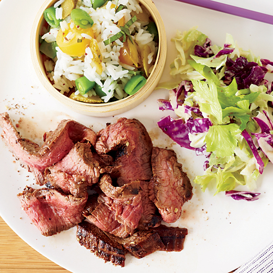 Low: Grilled Flank Steak with Sichuan Peppercorns