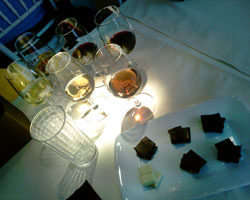 Wine-and-chocolate pairing