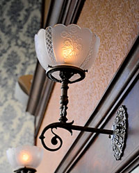 Vintage-Inspired Food Experiences: victorian sconces
