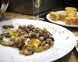 Chipirones and Cava at El Quim, Barcelona.