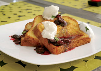 Malted Custard French Toast