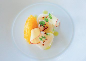 Scallop Sashimi with Meyer Lemon Confit