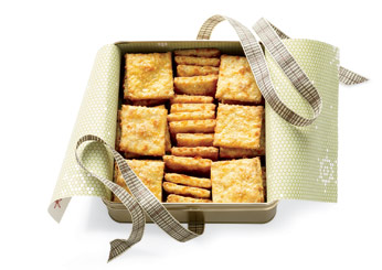 Best Handmade Gifts: Oat-and-Cheddar Crackers