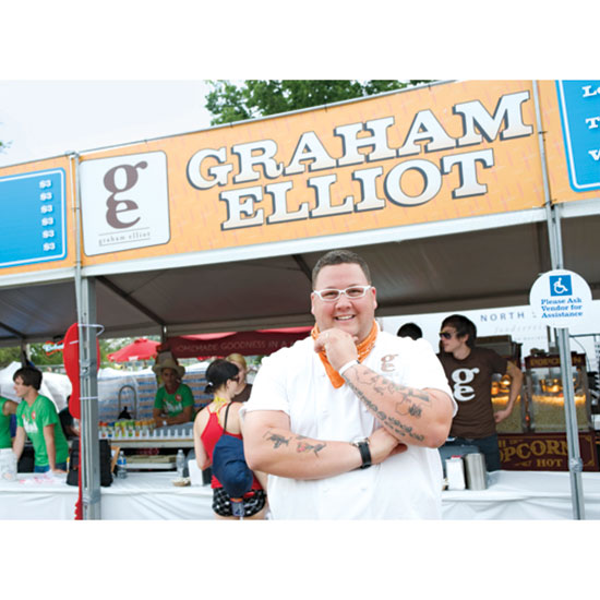 Chef Graham Elliot hand-picks the food vendors at Lollapalooza's Chow Town.
