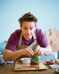Richard Blais serves his veggie burger open-faced to cut back on the calories.