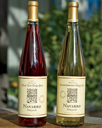 Navarro Vineyards grape juice.