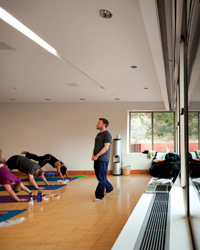 Yogi master David Romanelli teaches.
