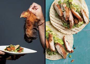 Scary Way to Real Way: Fried Chicken Tacos