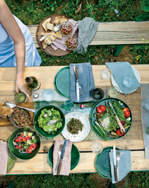 Summer grilling: Russian homestyle cooking.