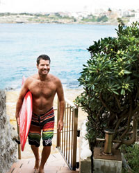Australian chef (and avid surfer) Pete Evans.
