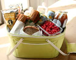 Luxe picnic basket service at Andaz 5th Avenue.