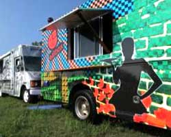 New this year at Bonnaroo: The Food Truck Oasis.