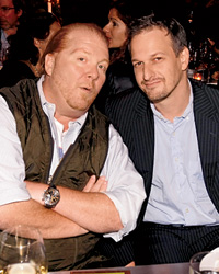 Actor Josh Charles and chef Mario Batali.