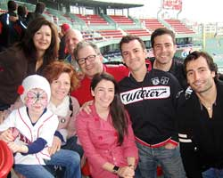 Jody Adams (second from left, front row) and her PMC Team Rialto at Fenway Park.