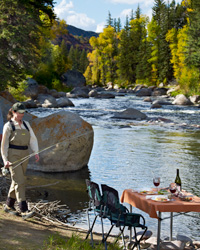 Alfresco dining: Colorado Fly-Fishing