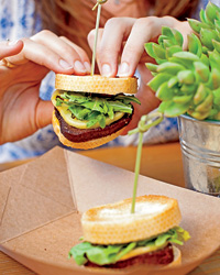 Alfresco dining: Sliders