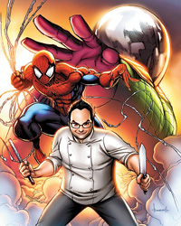 Spider-Man teams up with chef Eli Kirshtein to fight Mysterio.