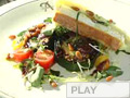 Video: Pan-Seared Zucchini with Pine Nuts, Olive Dressing and Robiola Toasts