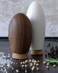 Reclaimed-Wood Salt and Pepper Shakers by Domestic Aesthetic
