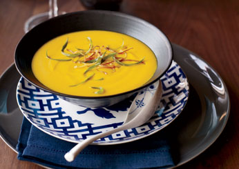 Thanksgiving Vegetarian Soups: Thai Red-Curry Squash Soup